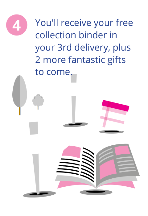 You'll receive your free collection binder in your 3rd delivery, plus 2 more fantastic free gifts to come.